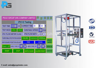 PLC Control IP Testing Equipment IP01 / IP02 Dripping Water Resistance Environment Tester